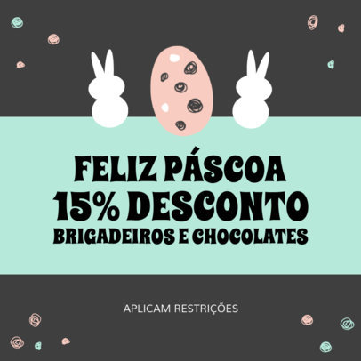 Portuguese Instagram Post Template for an Easter Sale 3689c-el1