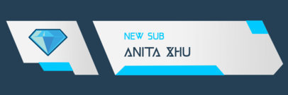 Twitch Alert Box Template for a New Subscriber Notification 3695a-el1
