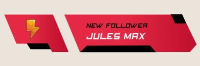 Twitch Alert Box Template for a New Follower Notification 3695d-el1