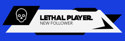 Twitch Alert Box Creator for a New Follower with a Skull Icon 3701c-el1