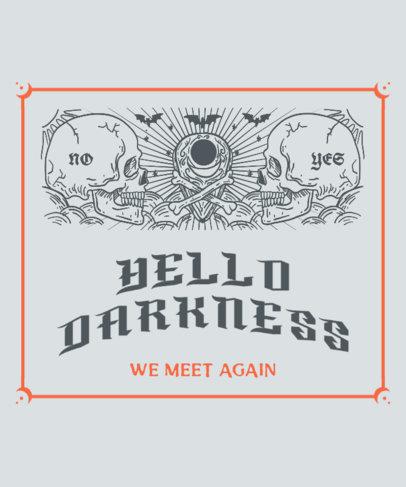 Dark T-Shirt Design Creator with a Ouija Theme 3474b