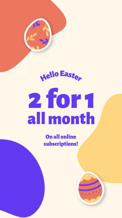 Instagram Story Template for a Special Offer Featuring Easter Egg Graphics 3687c-el1