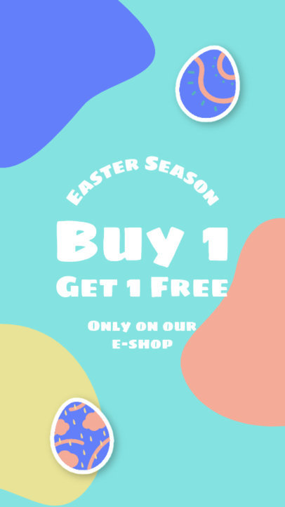 Colorful Instagram Story Design Generator Featuring Easter Graphics 3687e-el1
