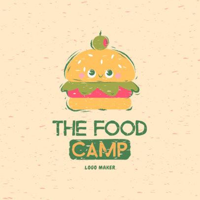 Logo Maker Featuring a Cute Burger Cartoon 4158f