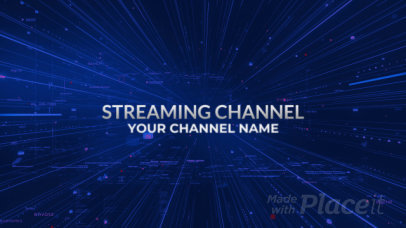 Streaming Channel Intro Video Maker with a Cyberspace Theme 2745-el1
