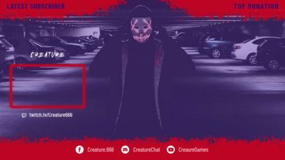 Twitch Overlay Generator Featuring a Horror Theme 3489a