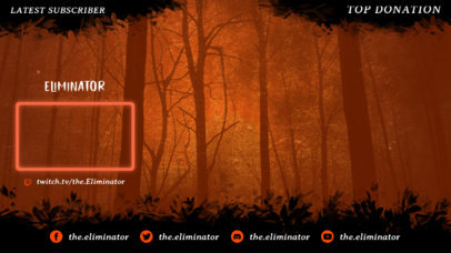 Twitch Overlay Design Maker for Horror Gamers Featuring Spooky Graphics 3489c