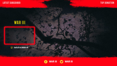 Twitch Overlay Design Template for Horror Games Streamers 3489b