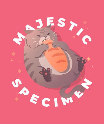 Fun T-Shirt Design Generator Featuring a Fat Cat 3496f