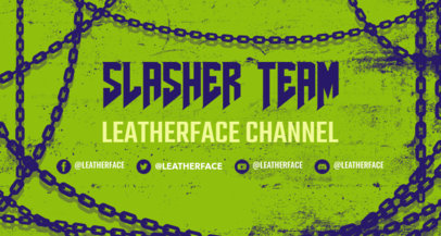 Twitch Banner Template Featuring Chain Graphics 3490a