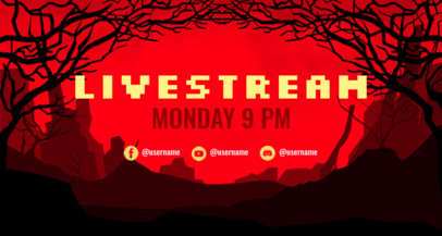 Twitch Banner Generator Featuring an Illustrated Graveyard Setting 4390e