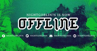 Haunted Twitch Offline Banner Design Creator  3492b