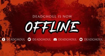 Bloody Twitch Offline Banner Design Template 3492d