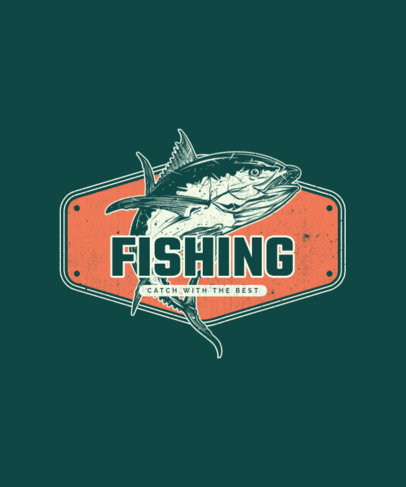 T-Shirt Design Maker Featuring Fish Plaque Illustrations 3665-el1