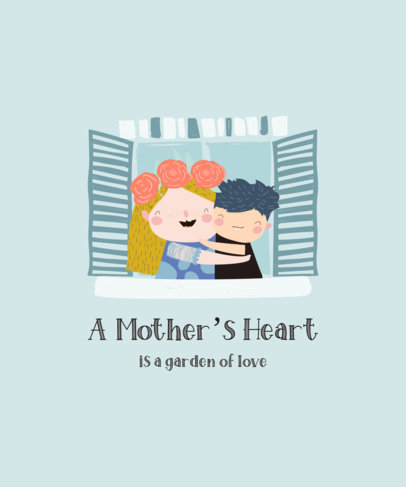 Illustrated T-Shirt Design Maker for Mother's Day Featuring Sweet Quotes 3721-el1
