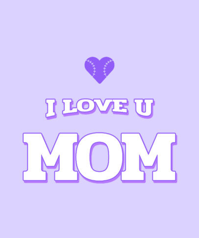 Mothers Day T-Shirt Design Maker Featuring a Baseball-Style Heart Graphic 3314g