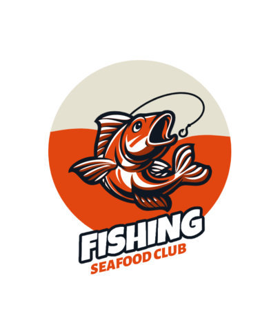 Colorful T-Shirt Design Creator for a Fishing Team 3667c-el1