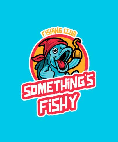 T-Shirt Design Maker Featuring Fishing Club Emblems 3669-el1