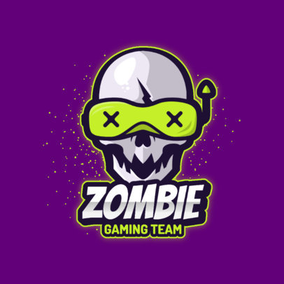 Gaming Team Logo Template with an Undead-Themed Graphic 3711b-el1