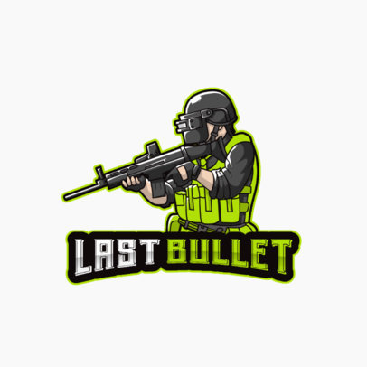 Gaming Logo Generator Featuring a Special Forces Soldier Illustration 3709c-el1