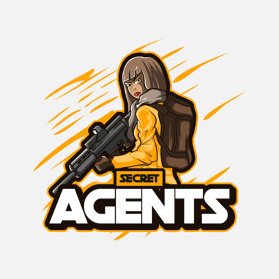 Shooters-Themed Logo Maker for Gamers Featuring a Special Agent 3707d-el1