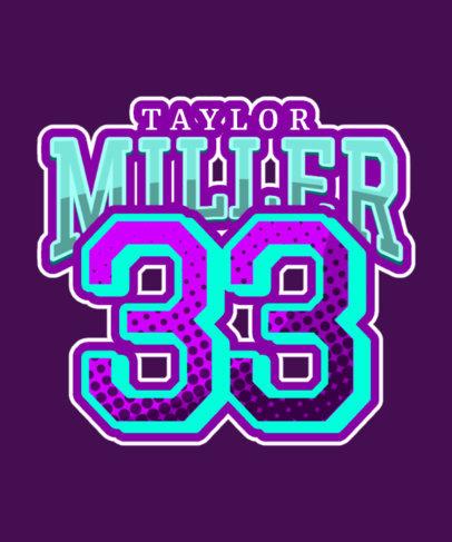 T-Shirt Design Generator Featuring a Sports Jersey Number 3517e