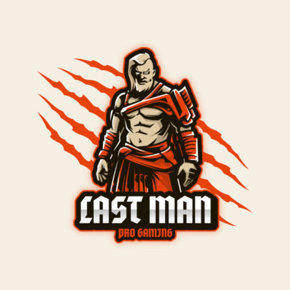Logo Maker for Gaming Teams Featuring an Ancient Warrior 3713b-el1