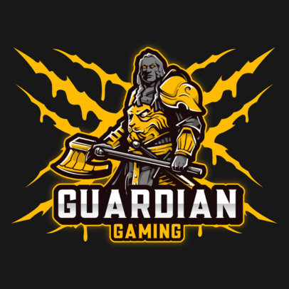 Logo Maker for eSports Teams with a Fierce Warrior Illustration 3713f-el1