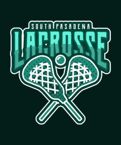T-Shirt Design Template for Lacrosse Enthusiasts 3517d