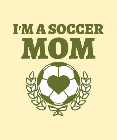 Cool T-Shirt Design Maker for Soccer Moms Featuring a Ball Clipart 3516a
