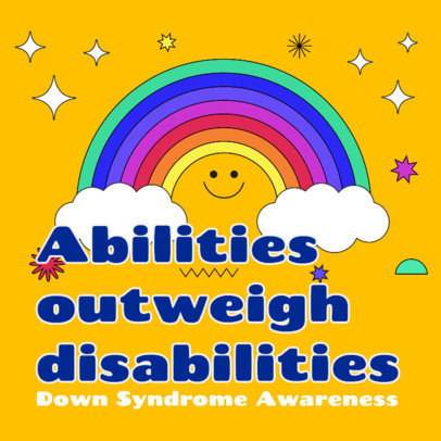 Instagram Post Maker to Spread Awareness About Down Syndrome 3527b
