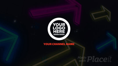 Intro Video Creator Featuring Neon Graphics and Glitch Effects 2843-el1