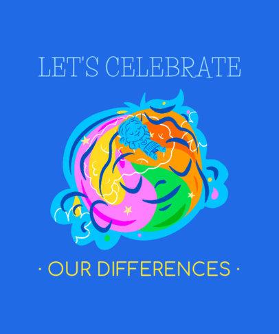 Sweet T-Shirt Design Generator for Neurodiversity Awareness 3522c