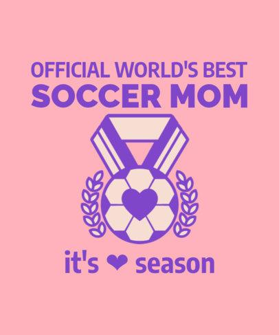 Soccer-Themed T-Shirt Design Maker Featuring a Medal Clipart 3516d