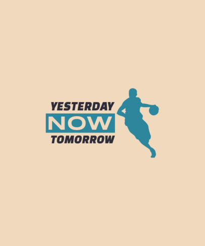T-Shirt Design Creator Featuring a Quote with a Basketball Player Icon 3511e