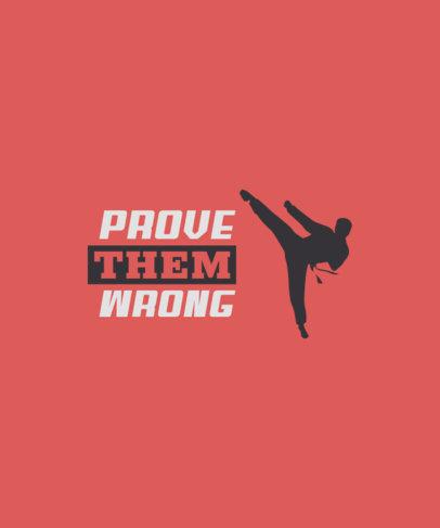 Sports T-Shirt Design Maker Featuring a Karate Fighter Graphic 3511j