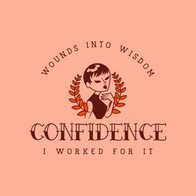 Feminist T-Shirt Design Maker Featuring a Confident Woman 4176d