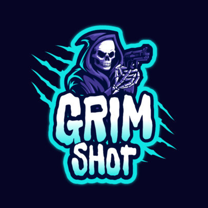 Gaming Logo Creator for Gaming Streamers Featuring an Armed Reaper Graphic 4191n