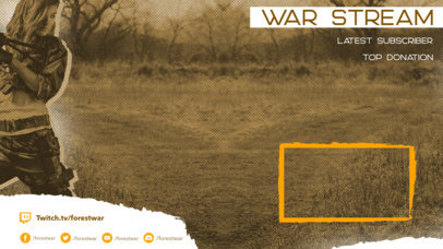 Twitch Overlay Maker with a Webcam Fame Featuring War Soldiers 3533