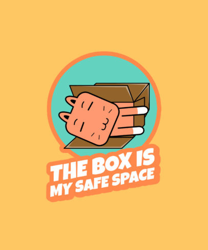 T-Shirt Design Generator Featuring a Cat Sleeping in a Box 3730c-el1