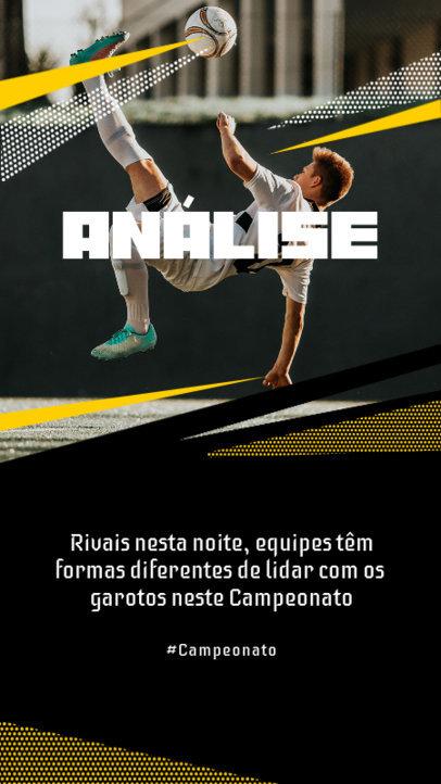 Portuguese Instagram Story Design Template for Soccer Fans 3750c-el1