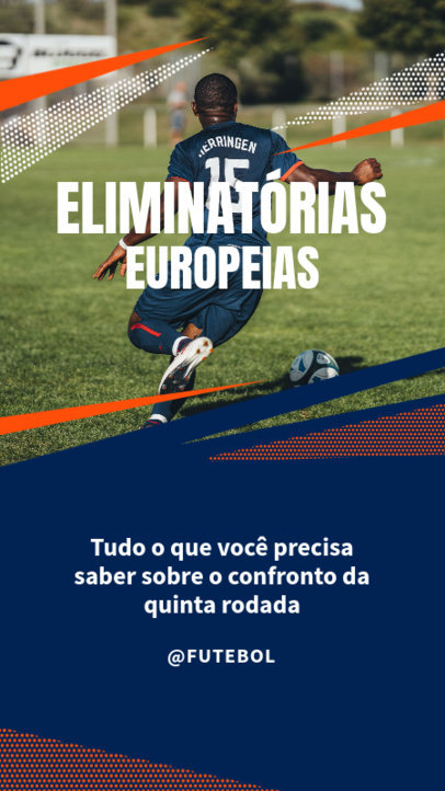 Instagram Story Design Creator for Soccer Enthusiasts with Portuguese Text 3750e-el1