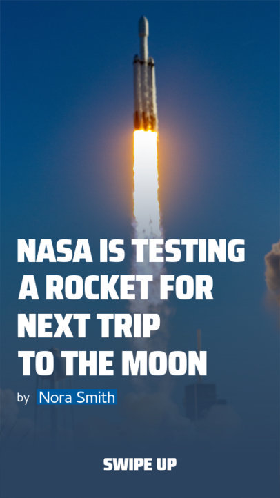 Instagram Story Creator Featuring a NASA Rocket Launch Report 3754e-el1