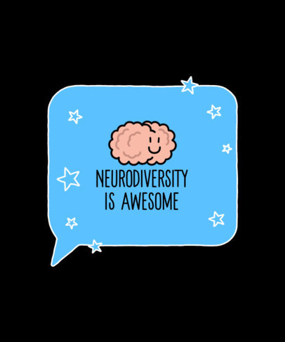 T-Shirt Design Creator for Neurodiversity Awareness Featuring a Chat Globe 3523d