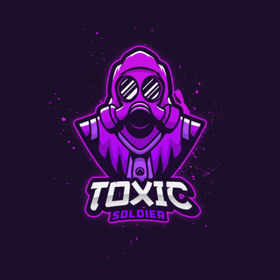Gaming Logo Maker with a Bust Illustration of a Character with Hazmat Suit 4200f