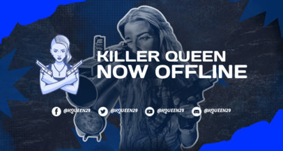 Twitch Banner Maker Featuring a Female Warrior Inspired by PUBG 3532d