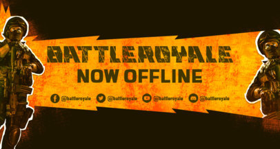 Twitch Banner Generator Featuring an Armed Trooper Graphic 3535b