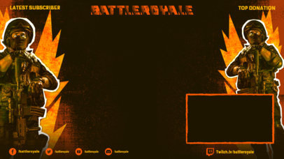 Twitch Overlay creator with a Battle Royale Trooper Graphic 3535b