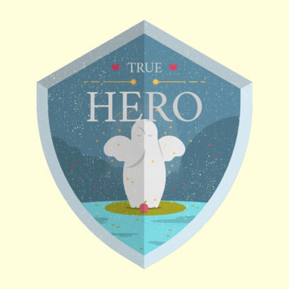 Zelda-Inspired Gaming Logo Maker with a Hero Shield Graphic 4213d