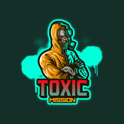 Gaming Logo Maker Featuring a Character with a Hazmat Suit 4197e